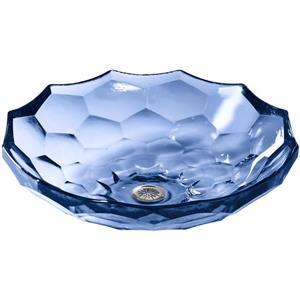 KOHLER Briolette Vessel Sink - 17.5-in x 4.75-in - Glass - Purple