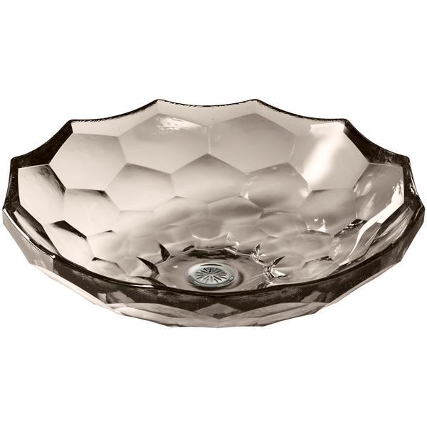 KOHLER Briolette Vessel Sink - 17.5-in x 4.75-in - Glass - Bronze