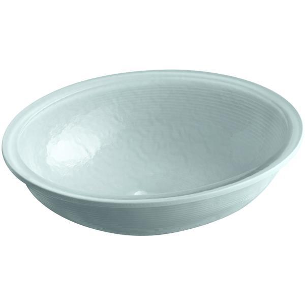 KOHLER Whist Undermount Sink - 16.13-in x 5.38-in - Glass - Gray