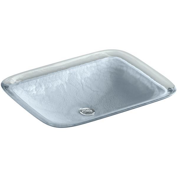 KOHLER Inia Vessel Sink - 14.9-in x 4.7-in - Glass - Blue
