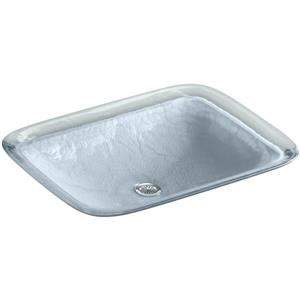 KOHLER Inia Vessel Sink - 14.9-in x 4.7-in - Glass - Blue