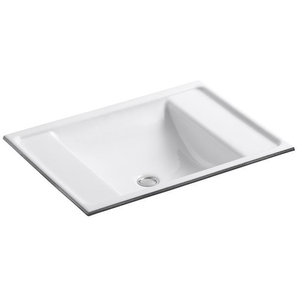KOHLER Ledges Undermount Sink - 14.62-in - Cast Iron - White