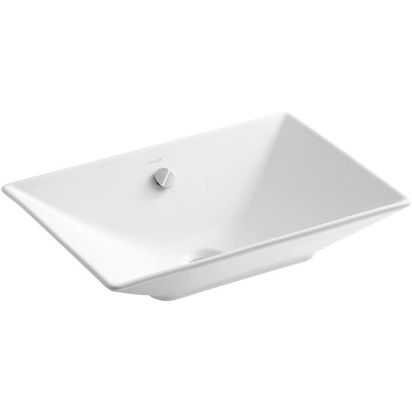 KOHLER Rêve Console Sink - 14.75-in x 6.06-in - Clay - White