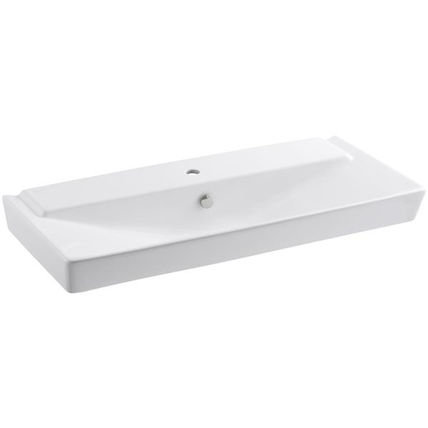 KOHLER Rêve Console Sink - 18.36-in x 6.69-in - Clay - White