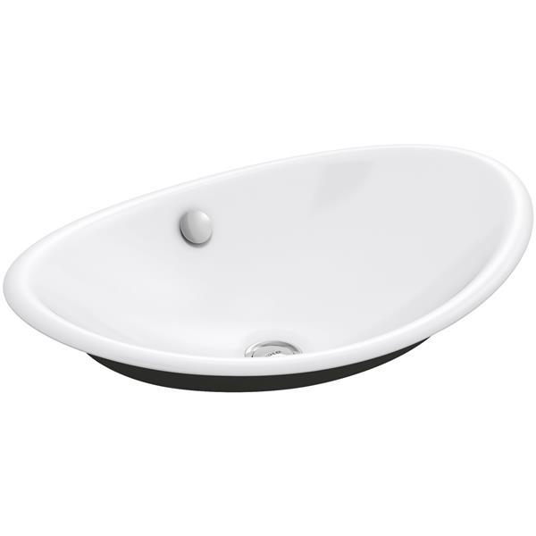 KOHLER Iron Plains Sink - 14.25-in - Cast Iron - White