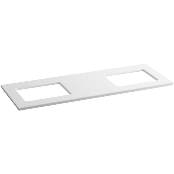 KOHLER Solid/Expressions Vanity Top - 61-in - White