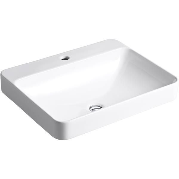 KOHLER Vox Vessel Sink - 18.13-in x 6.88-in - Porcelain - White