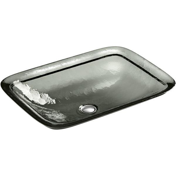 KOHLER Inia Vessel Sink - 14.94-in x 4.69-in - Glass - Clear