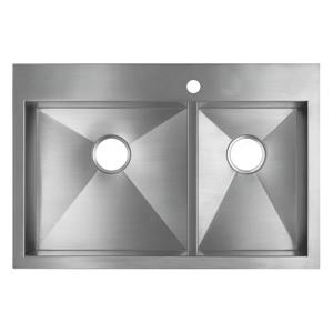 Vault Drop-in Double Kitchen Sink - 33