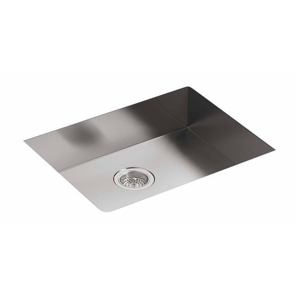 "Vault Drop-in Single Kitchen Sink - 25"" - Silver"