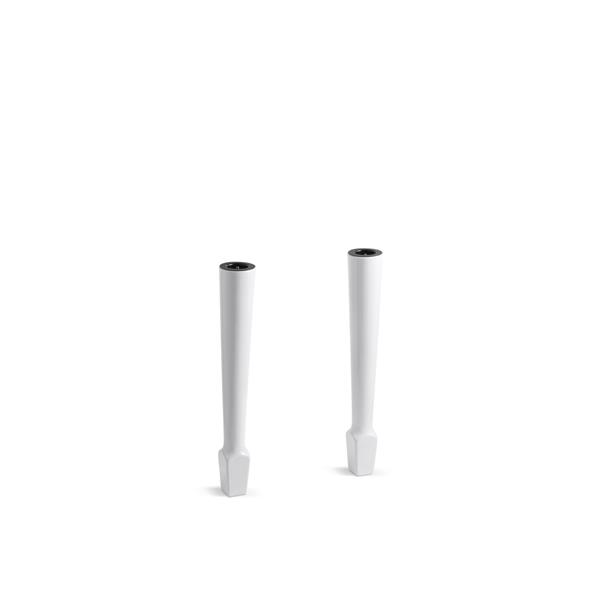 "Table Legs - 26.63"" - Fireclay - White - 2 pcs"