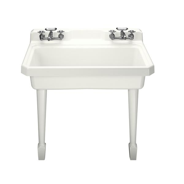 KOHLER Harborview Utility Sink - 48-in  x 15.06-in - Cast Iron - White