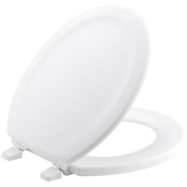KOHLER Stonewood Toilet Seat - 15-in - Wood - White
