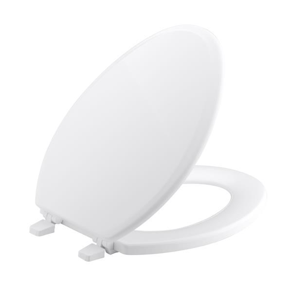 KOHLER Ridgewood Toilet Seat - 18.6-in - Wood - White