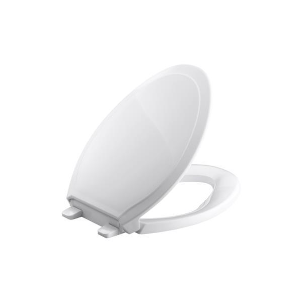 KOHLER Rutledge Toilet Seat - 18.7-in - Plastic - White