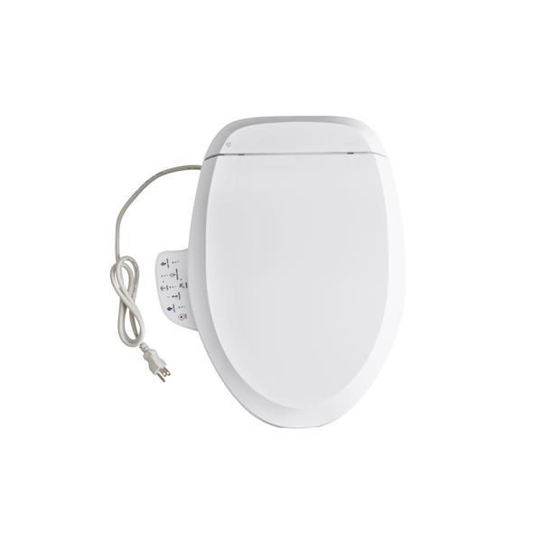 Superb Kohler C3 125 Cleansing Toilet Seat 19 9 In Plastic White Machost Co Dining Chair Design Ideas Machostcouk