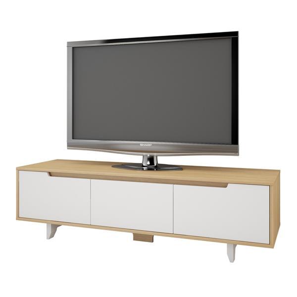 Nexera Nordik Entertainment SeT - Natural Maple and White - 2-piece