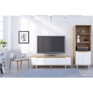 Nexera Nordik Entertainment SeT - Natural Maple and White - 2-piece