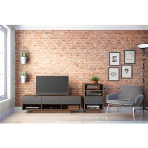 Nexera Radar Entertainment Set - Walnut & Charcoal - 2-piece