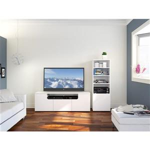 Nexera Arobas Entertainment Set - TV Stand / Audio Cabinet - White