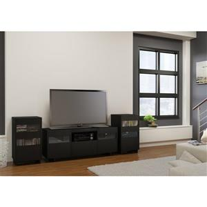 Nexera Vision Entertainment Set - Black - 3-piece