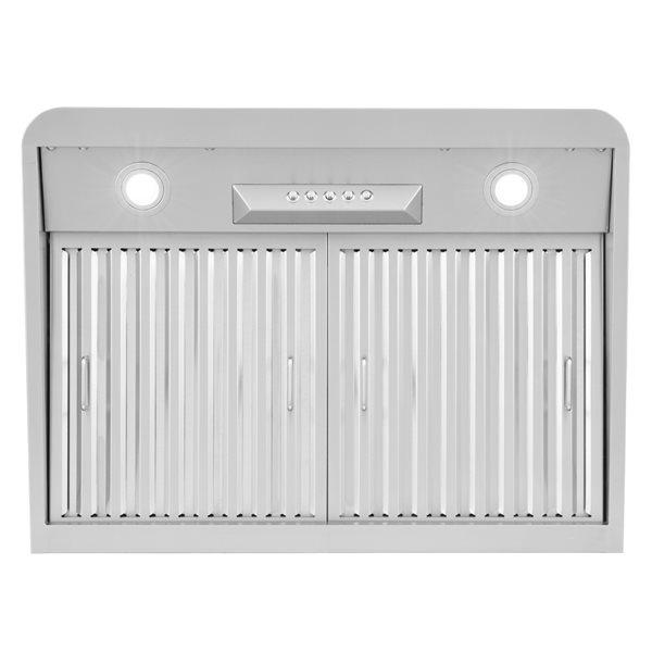 Cosmo Undercabinet Range Hood - 30-in - 500 CFM - Stainless Steel