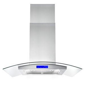 Cosmo 36-in Island Range Hood 380 CFM - Stainless Steel