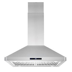 Cosmo 30-in Island Range Hood 380 CFM - Stainless Steel