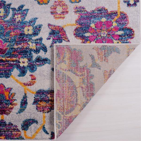 La Dole Rugs®  Johanna Blotanical Persian Runner - 3' x 5' - Multicolour