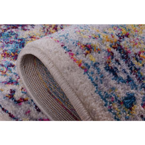 La Dole Rugs® Saba Traditional Area Rug - 5' x 8' - Cream/Multicolour