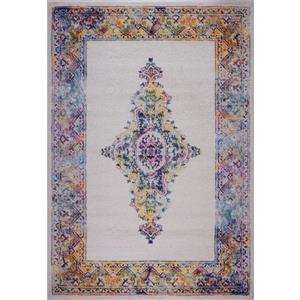 La Dole Rugs® Saba Traditional Area Rug - 7' x 10' - Cream/Multicolour