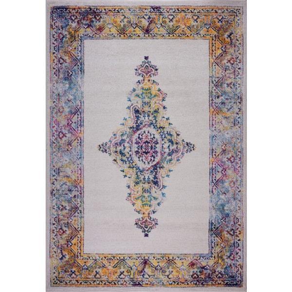La Dole Rugs® Saba Traditional Area Rug - 8' x 11' - Cream/Multicolour