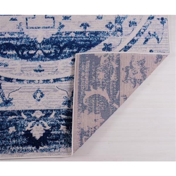 La Dole Rugs®  Kahina Traditional Botanical Area Rug - 8' x 11' - Blue
