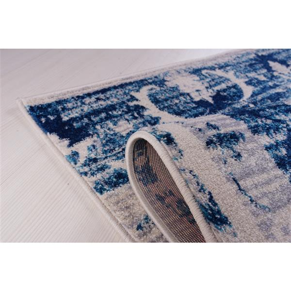 La Dole Rugs®  Kahina Traditional Botanical Area Rug - 4' x 6' - Blue