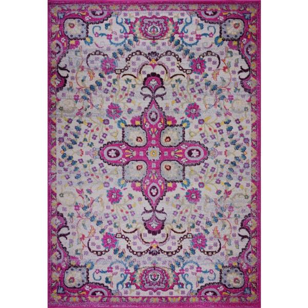 Tapis perse traditionnel «Darcy», 8' x 11', rose