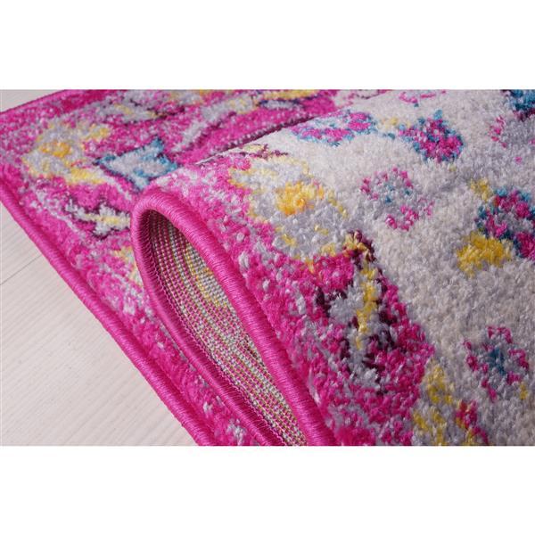 La Dole Rugs®  Darcy Traditonal Persian Area Rug - 5' x 8' - Pink