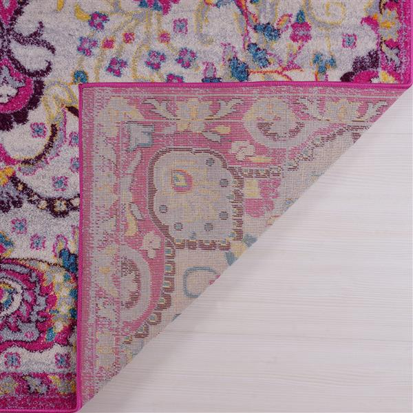 Tapis perse traditionnel «Darcy», 7' x 10', rose