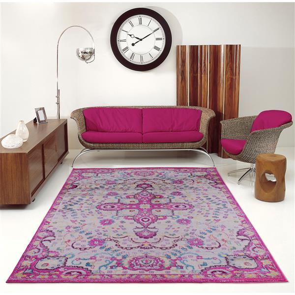 La Dole Rugs®  Darcy Traditonal Persian Small Runner - 3' x 5' - Pink