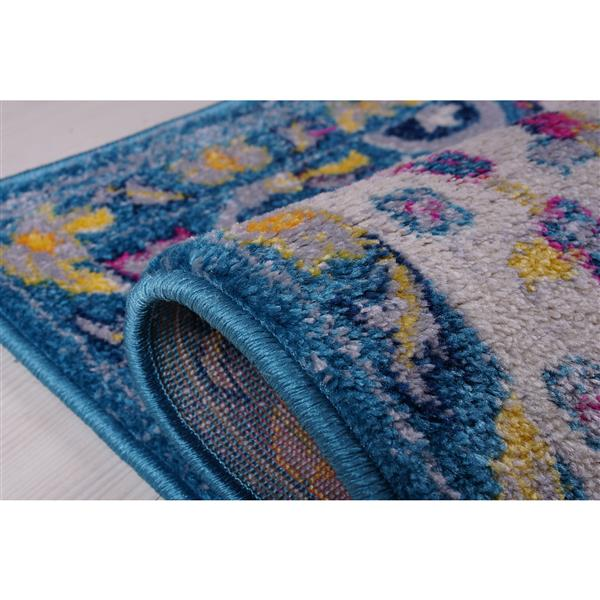 La Dole Rugs®  Darcy Traditonal Persian Big Runner - 3' x 10' - Blue