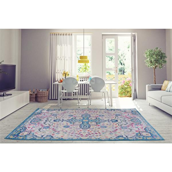 La Dole Rugs®  Darcy Traditonal Persian Area Rug - 4' x 6' - Blue