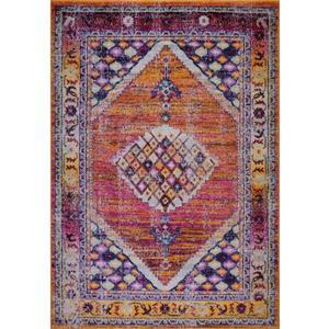 La Dole Rugs® Sapphire Traditional Area Rug - 5' x 8' - Orange/Burgundy