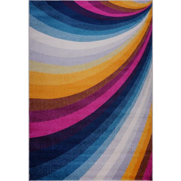 La Dole Rugs® Opal Abstract Rectangular Rug - 4' x 6' - Multicolour
