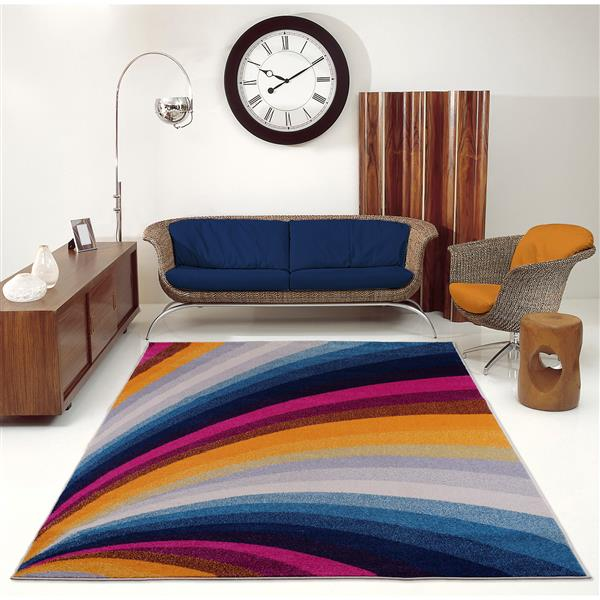 La Dole Rugs® Opal Abstract Rectangular Rug - 5' x 8' - Multicolour