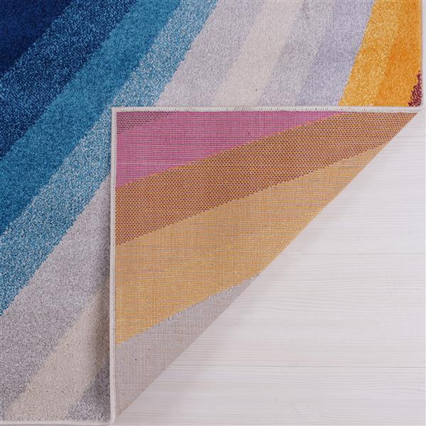 Petit tapis opale abstrait , 3' x 5', multicolore