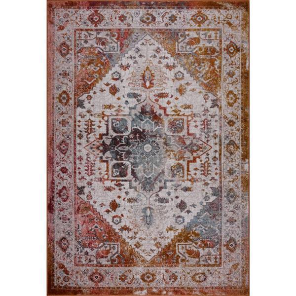 Petit tapis traditionnel «Modena», 3' x 5', crème/brun