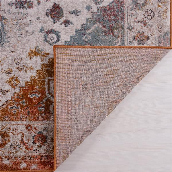 La Dole Rugs® Modena Traditional Big Runner - 3' x 10' - Brown/Cream