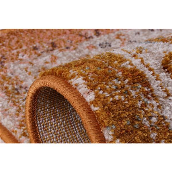 La Dole Rugs® Modena Traditional Area Rug - 4' x 6' - Brown/Cream