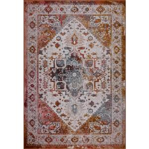 Modena Traditional Area Rug - 4' x 6' - Brown/Cream