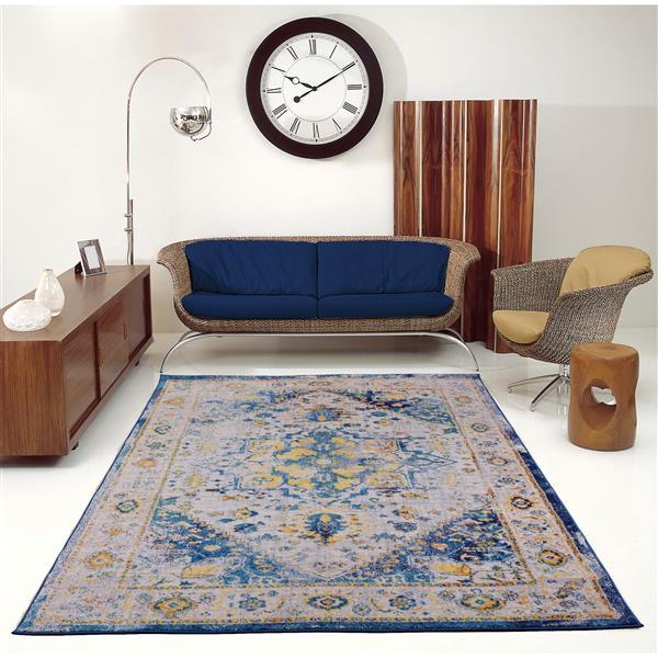 La Dole Rugs® Modena Traditional Area Rug - 5' x 8' - Blue/Multicolour