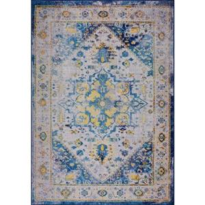Petit tapis traditionnel «Modena», 3' x 5', bleu/multicolore